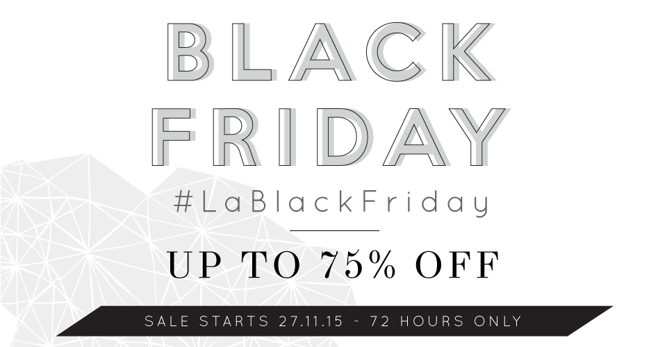 Black Friday up to 75% off