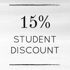 15% Student Discount