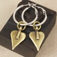 Large gold plated heart earrings for her