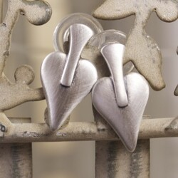 Danon Silver Signature Heart Earrings
