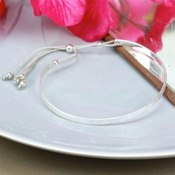 Estella Bartlett Silver Delphine Bangle