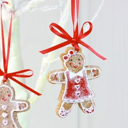 Mini Gingerbread Woman Hanging Decoration