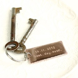Personalised Best Day Ever Keyring