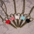 A cut above the rest necklace in various colours