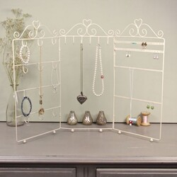Triple Jewellery Stand in Cream