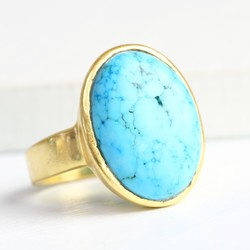 Evie Oval Turquoise Ring