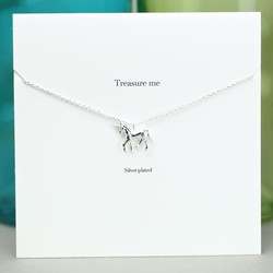Estella Bartlett 'Treasure Me' Silver Unicorn Necklace