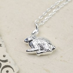 Estella Bartlett 'Secret Garden' Rabbit Necklace in Silver