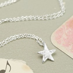 Estella Bartlett 'Enjoy The Little Things' Silver Star Necklace