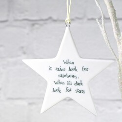 East of India 'When It Rains' Star Shaped Hanging Decoration