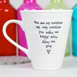 East of India 'You Are My Sunshine' Quote Mug