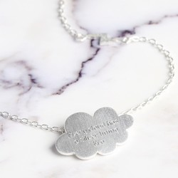 Personalised Silver Thunder Cloud Necklace