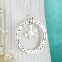 Personalised Silver Eternity Snowflake Necklace