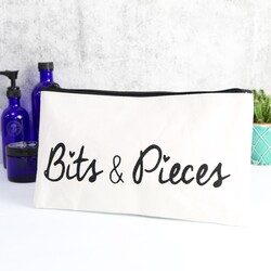 'Bits & Pieces' Quote Make Up Bag