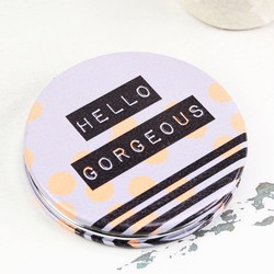 Disaster Designs Arm Candy 'Hello Gorgeous' Compact Mirror