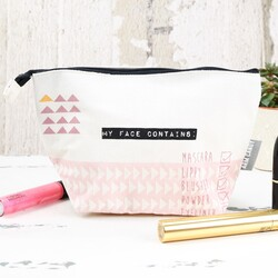 Disaster Designs Arm Candy 'My Face Contains' Make Up Bag