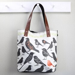 Disaster Designs Penny Black Bird Tote