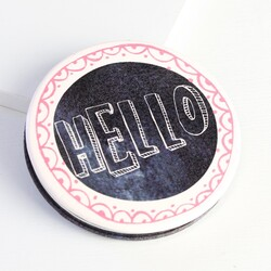 Disaster Designs Penny Black 'Hello' Compact Mirror