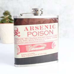 Disaster Designs Apothecary Arsenic Hip Flask