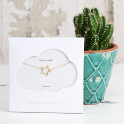 Estella Bartlett Small Gold Open Star Necklace