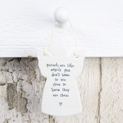 East Of India 'Friends Are Like Angels...' Hanging Angel Decoration