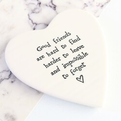 East Of India 'Good Friends...' Porcelain Coaster