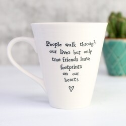 East Of India 'People Walk Through Our Lives...' Porcelain Mug
