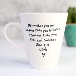 East Of India 'Remember you are...' Porcelain Mug