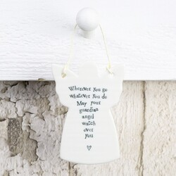 East Of India 'Wherever you go...' Hanging Angel Decoration