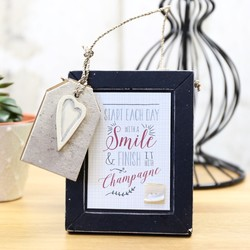 East of India Small 'Start Each Day with a Smile' Sign