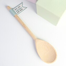 East of India 'Love You to The Moon and Back' Wooden Gift Spoon