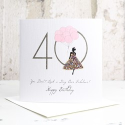 Five Dollar Shake 'Day Over Fabulous' 40th Birthday Card