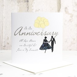 Five Dollar Shake 'On Our Anniversary' Card