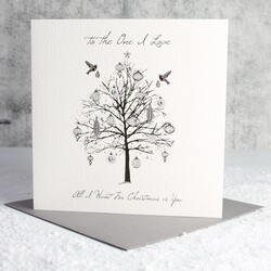 Five Dollar Shake 'To the One I Love' Tree Christmas Card