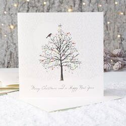Five Dollar Shake Pack of 6 'Merry Christmas' Tree Cards