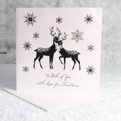 Five Dollar Shake 'To Both of You With Love' Christmas Card