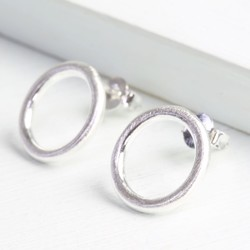 Small Silver Ring Earrings