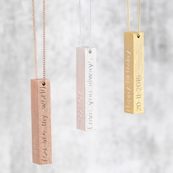 Personalised Bold Bar Necklace