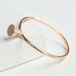 Delicate Rose Gold Cone Ring