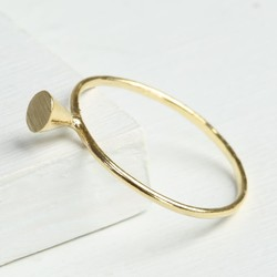 Delicate Gold Cone Ring
