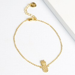Personalised Gold Pineapple Bracelet