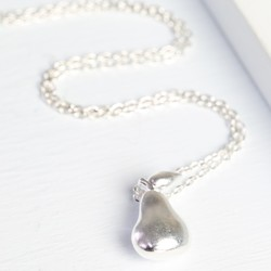 Silver Pear Necklace
