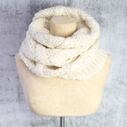 Knitted Snood in Cream