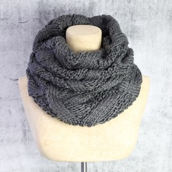Knitted Snood in Dark Grey