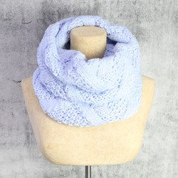 Knitted Snood in Pastel Blue