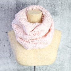 Knitted Snood in Pastel Pink