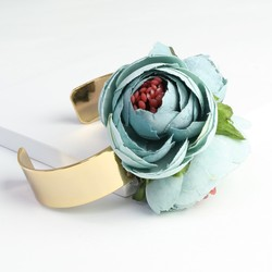 Blue Flower Corsage Bangle