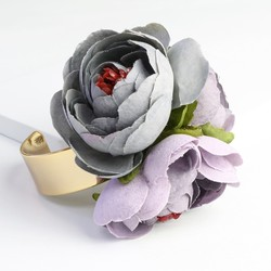 Purple Flower Corsage Bangle