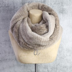 Personalised Striped Mink Faux Fur Snood