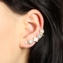Orelia Multi Shape Nordic Ear Cuff